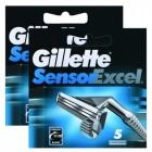 Gillette Sensor Excel 5 li Yedek Tıraş Bıçağı x 2 Adet