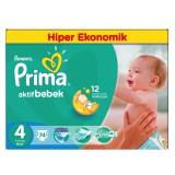 Prima Bebek Bezi Hiper Ekonomik Paket 4 Beden Maxi 74 Lü