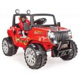 Pilsan Ranger Akülü Araba 12 Volt (Uzaktan Kumandalı) Kırmızı