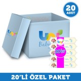 Uni Baby Islak Havlu Kapaklı Sensitive 56 lı x 20 Adet (1.120 Yaprak)