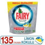 Fairy Platinum Bulaşık Makinesi Kapsülü Limon Kokulu 135 Yıkama