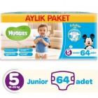 Huggies Erkek İçin Aylık Paket Bebek Bezi Junior 5 No 64 lü