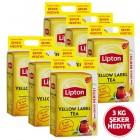 Lipton Yellow Label Çay 1000 gr x 6 Adet (Şeker Hediyeli)