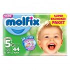 Molfix Bebek Bezi 5+ Beden Junior Plus Dev Ekonomik Paket 44 adet