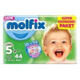 Molfix Bebek Bezi Comfort Fix Dev Ekonomi Junior Plus 5+ No 44 lü