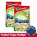 Rinso Toz Deterjan Kır Bahçesi 7 Kg x 2 Adet (Futbol Topu Hediye)