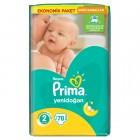 Prima Bebek Bezi Aktif Bebek Ekonomik Paket 2 Beden 78 Adet