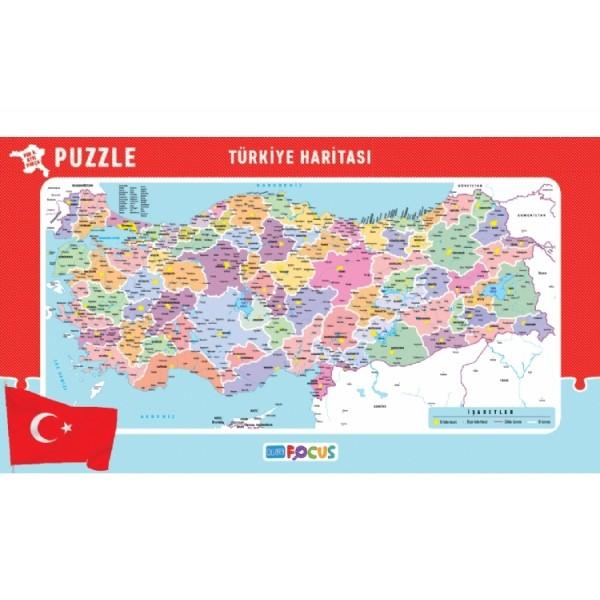 Blue Focus Yayınları Türkiye Haritası Her Il Ayrı Parça