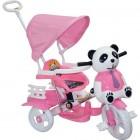 Dilaver Panda 3 Tekerli İtmeli Müzikli Bisiklet (Pembe)