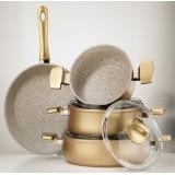 Hisar Multi Granit Gold 7 Parça Tencere Seti