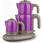 Korkmaz A353-07 Mia Çay Kahve Makinası (Mor)