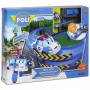 Robocar Poli Fırlatıcılı ve Dönemeçli Yol Seti 83385