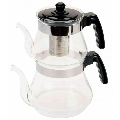 T-Design Ateşe Dayanıklı Cam Çaydanlık 3 Litre