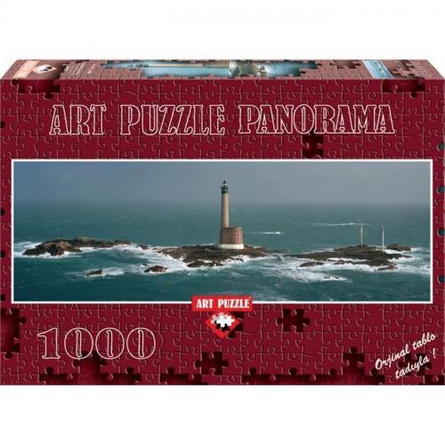 Art 1000 Parça Panorama Puzzle Les Roches Douvre Light House 4341
