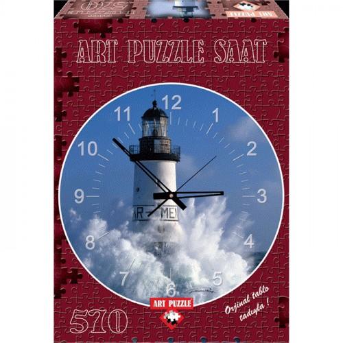 Art Puzzle 570 Parça Saat Men Light House 4141