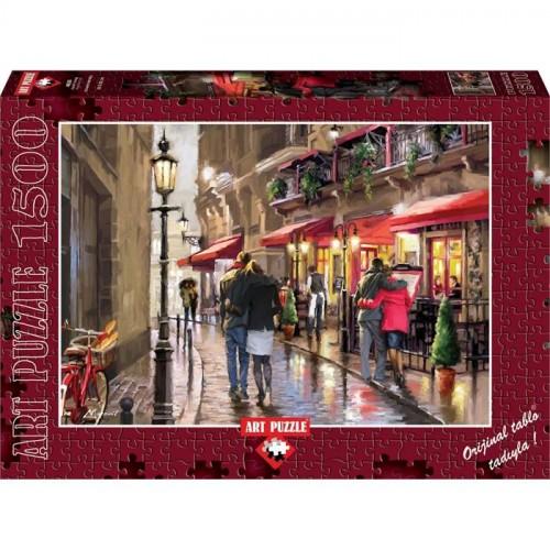 Art 1500 Puzzle Aşıklar Sokağı Night Time 4635