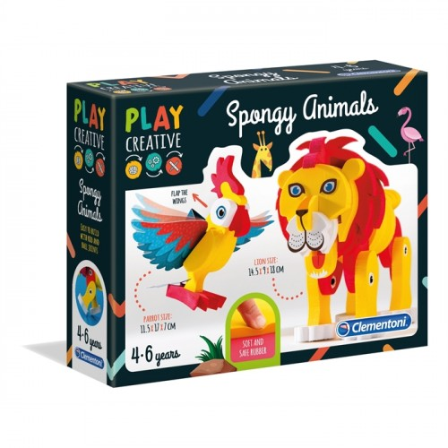 Clementoni Play Creative Sünger Hayvanlar 15284