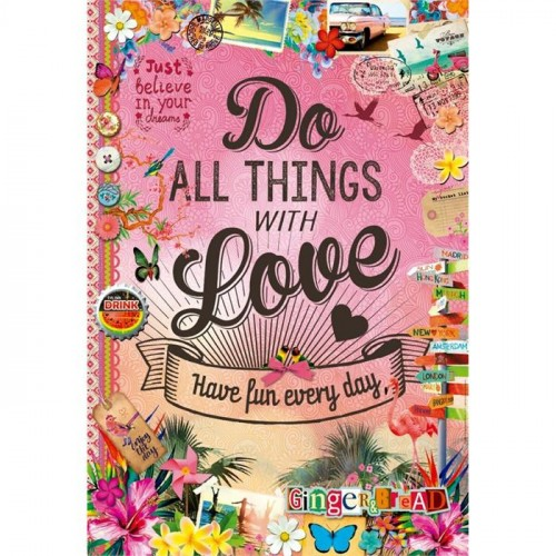Educa Puzzle Do All The Things With Love 500 Parça Puzzle 17086