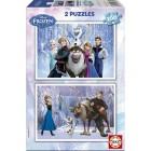Educa Çocuk Disney Frozen 2x100 Parçalık Puzzle