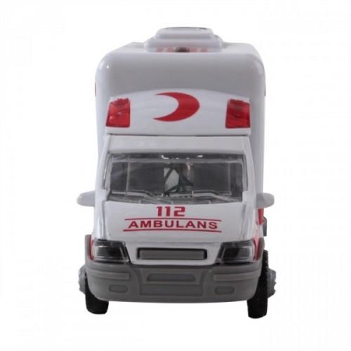 Furkan Oyuncak Pilli Işıklı Metal Ambulans 30211