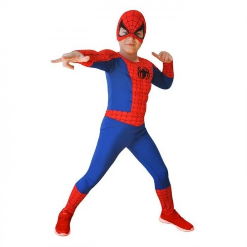 Spiderman Kaslı Çocuk Kostümü Örümcek Adam Kıyafeti Lüks 4-6 Yaş 00879