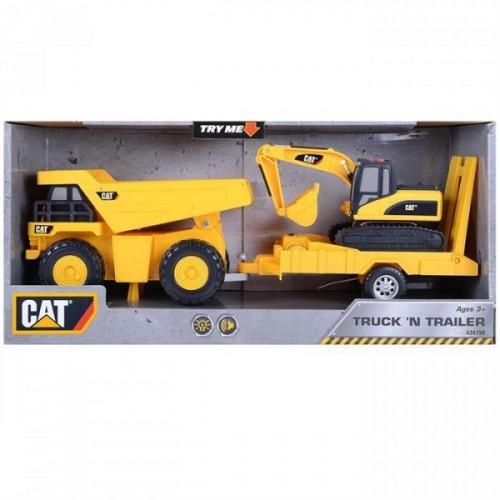 Cat Sesli Işıklı Kamyon ve İş Makinesi 34799