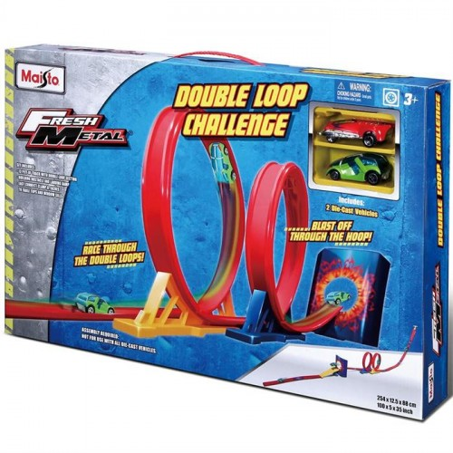 Maisto Fresh Metal Double Loop Challange Yarış Oyun Seti 12363