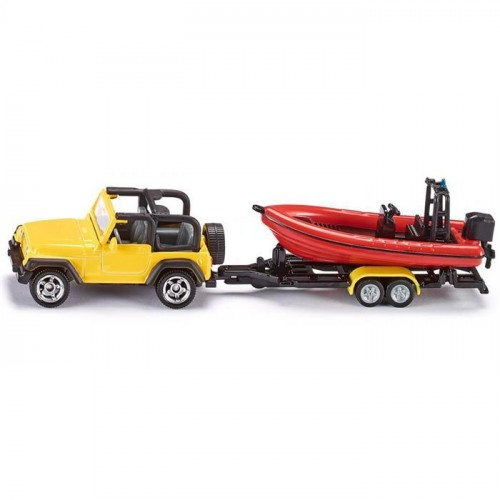 Siku Jeep With Boat 1658