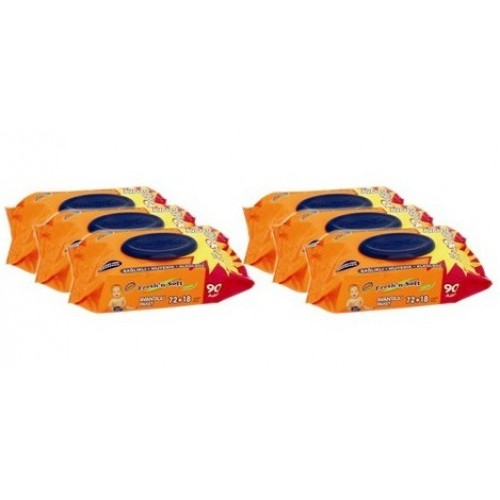 Freshn Soft Islak Havlu 90 lı x 6 Paket