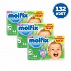 Molfix Bebek Bezi Dev Junior Plus 5+ No 44 lü x 3 Adet