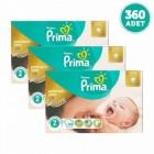 Prima Bebek Bezi Premium Care Dev Ekonomi 2 Beden 120li x 3 Adet