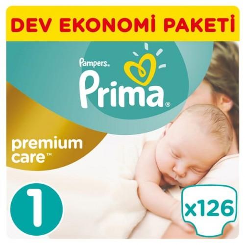 Prima Bebek Bezi Premium Care Yenidoğan 1 Beden 126 adet