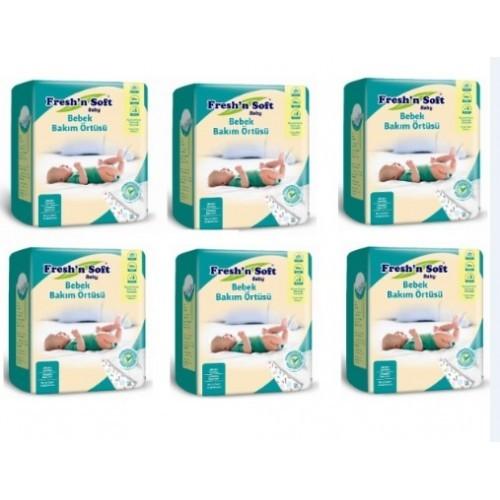 Freshn Soft Baby Bebek Bakım Örtüsü 10lu x 6 paket