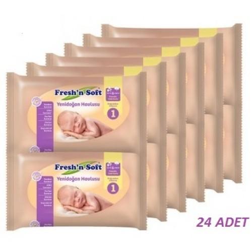 Freshn Soft Yenidoğan Islak Bebek Havlusu 40lı x 24 paket