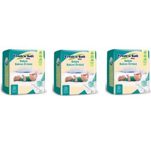 Freshn Soft Baby Bebek Bakım Örtüsü 10lu x 3 Paket