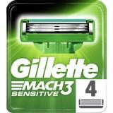 Gillette Mach3 Sensitive Yedek Tıraş Bıçağı 4 lü