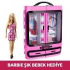 Barbie Pembe Gardrop Dmt57 (Barbie Şık Bebek Hediye)