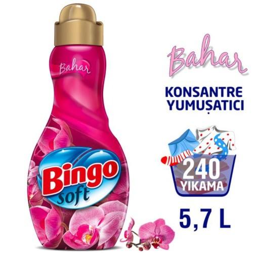 Bingo Soft Konsantre Çamaşır Yumuşatıcısı Bahar 1440 ml x 4 Adet