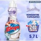 Bingo Soft Konsantre Çamaşır Yumuşatıcısı Sensitive 1,44 lt x 4 Adet