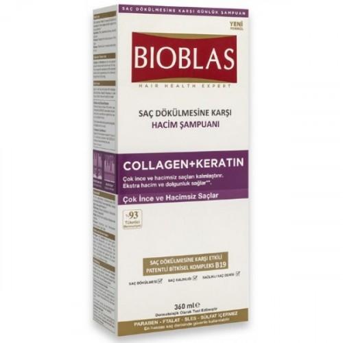 Bioblas Saç Dökülmesine Karşı Hacim Şampuanı Collagen + Keratin 360 ml