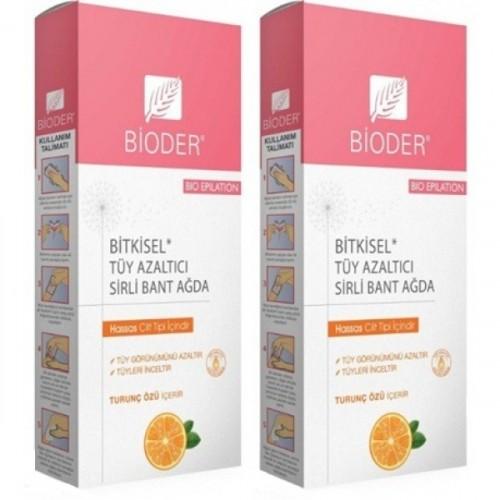 Bioder Epiten Tüy Azaltıcı Hassas Ciltler İçin Sirli Ağda Bandı x2Adet