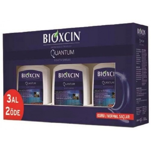 Bioxcin Quantum Kuru ve Normal Saçlar Şampuan 3 Al 2 Öde 3x300 ml