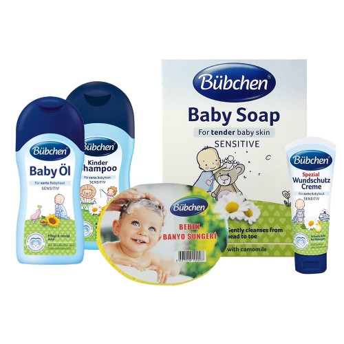 Bübchen Bebek Bakım Banyo Seti (5 Parça)