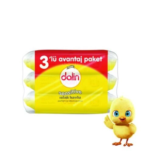 Dalin Sensitive Islak Havlu 52li (3 lü Paket)