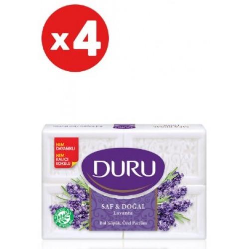 Duru Banyo Sabunu Saf ve Doğal Lavanta 150 gr 4 lü Paket x 4 Adet