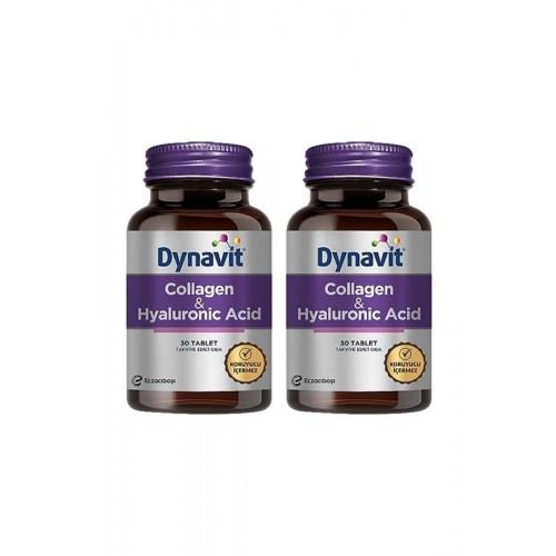 Dynavit Collagen & Hyaluronic Acid 30 Tablet x 2 Adet