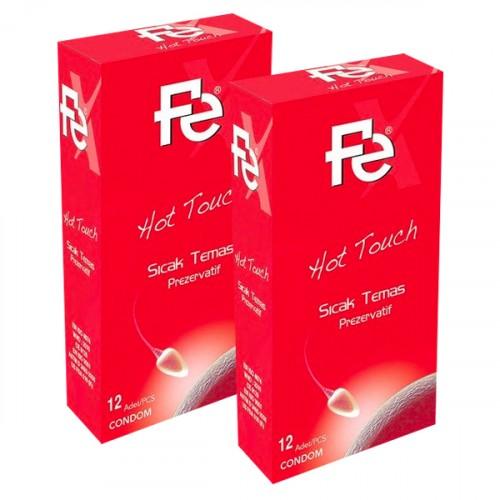 Fe Hot Touch Sıcak Temas Prezervatif 12 li x 2 Adet