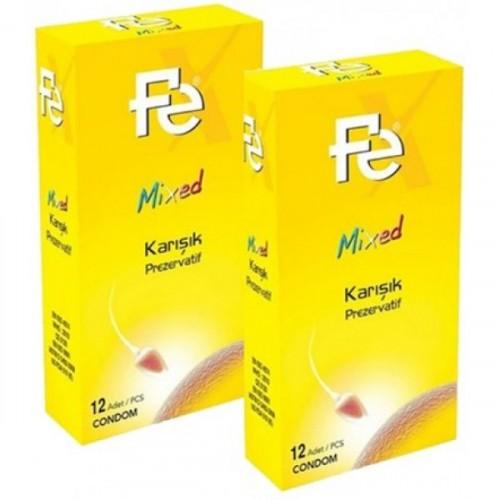 Fe Mixed Karışık Prezervatif 12 li x 2 Adet