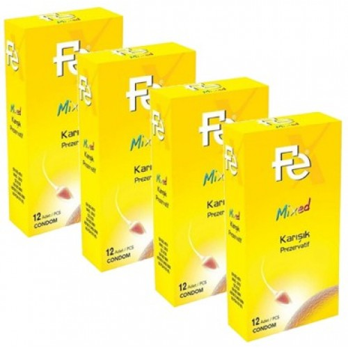 Fe Mixed Karışık Prezervatif 12 li x 4 Adet