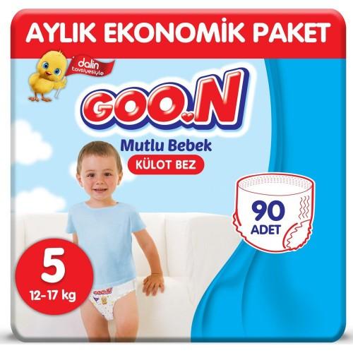 Goon Bebek Bezi Mutlu Bebek Külot Bezi 5 No 30 lu x 3 Adet